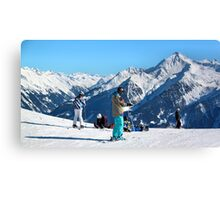 Skiing the Penken, Mayrhofen Canvas Print