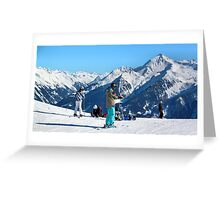 Skiing the Penken, Mayrhofen Greeting Card