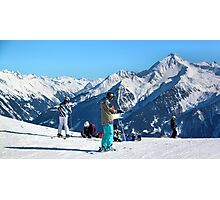 Skiing the Penken, Mayrhofen Photographic Print
