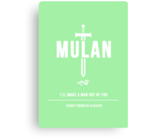 Disney Princesses: Mulan Minimalist Canvas Print