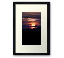 Adirondack Sunset Framed Print