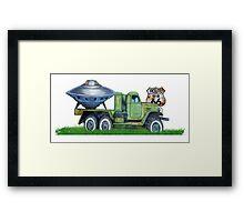 Vintage stylish UFO route 66 Us designer  Framed Print