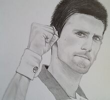 Novak Djokovic by anelsonpainting