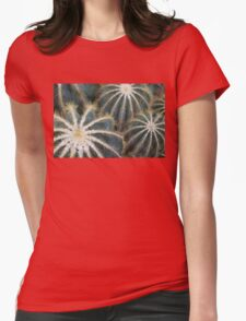 Sharp Beauty - Elegantly Ordered Cactus Needles Womens Fitted T-Shirt
