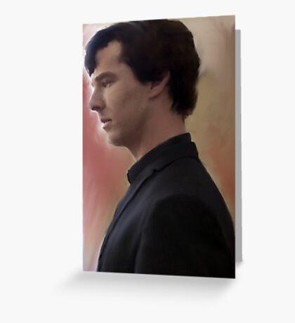BBC Sherlock Painting Greeting Card