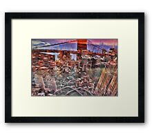 Utopia city Framed Print