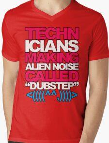 Technicians Making Alien Noise (magenta) Mens V-Neck T-Shirt