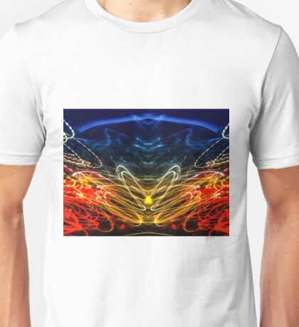 Lightpainting Abstract Symmetry UFA Prints #1 Unisex T-Shirt
