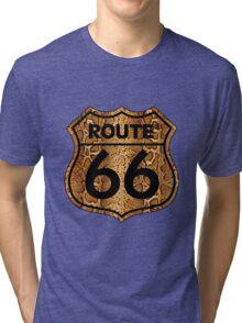 Vintage Route 66 US sign in snakeskin Tri-blend T-Shirt