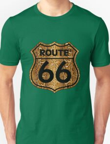 Vintage Route 66 US sign in snakeskin Unisex T-Shirt