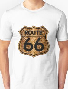 Vintage Route 66 US sign in snakeskin T-Shirt