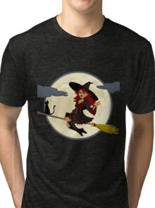 Friendly flying Witch Tri-blend T-Shirt