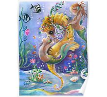 WaterBabies and Golden Sea Horse Poster