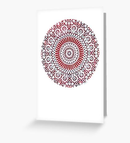 red capricorn Greeting Card