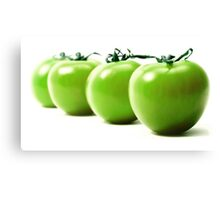 Green tomatoes Canvas Print