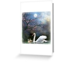 By the Light of the Silvery Moon ! Greeting Card