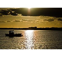 Sun set and out at sea. Photographic Print