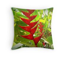 TROPICAL HELICONIA Throw Pillow