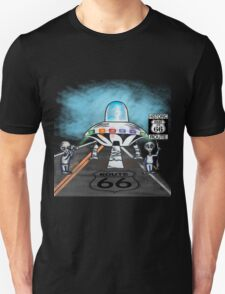 Alien invasion route 66 vinta style gifts T-Shirt