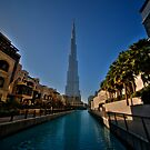 Burj Khalifa Canal by Michael Powell