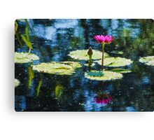 Waterlily Impressions - Dreaming of Monet Gardens Canvas Print