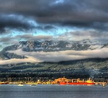 North Shore Mountains, Vancouver by Wynonna