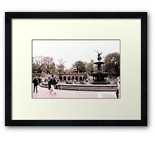 Afternoon At Bethesda Fountain Framed Print