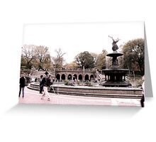 Afternoon At Bethesda Fountain Greeting Card