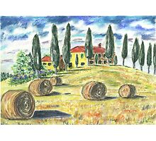 Tuscan Hillside Photographic Print