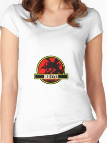 Red Eyes Black Jurassic Dragon Women's Fitted Scoop T-Shirt