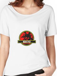 Red Eyes Black Jurassic Dragon Women's Relaxed Fit T-Shirt