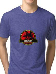 Red Eyes Black Jurassic Dragon Tri-blend T-Shirt