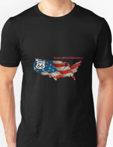 Elegant country Flat USA  route 66  T-Shirt
