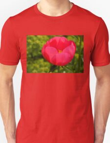 Vivid Spring - Impossibly Pink Peony Unfolding Unisex T-Shirt