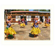 Accompaniment Dance, Bhutan Art Print
