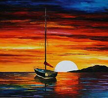 BEAUTIFUL SUNSET - LEONID AFREMOV by Leonid  Afremov