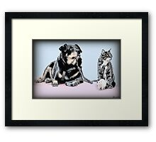 """✿♥‿♥✿ """"YES WE LUV ONE ANOTHER WHY CANT WE ALL GET ALONG""""? ✿♥‿♥✿    Framed Print"""