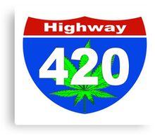 Highway  420 Canvas Print