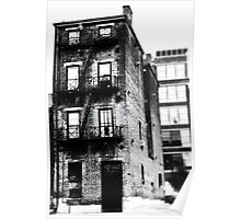 Decaying Building - Downtown Cincinnati Poster