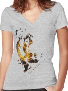Born To Be Free (Sparkle) Women's Fitted V-Neck T-Shirt