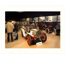 Inside Bonhams London to Brighton Run sale of Veteran Motor cars which takes place ahead of this weekends famous car run Art Print