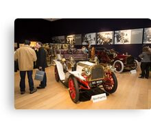 Inside Bonhams London to Brighton Run sale of Veteran Motor cars which takes place ahead of this weekends famous car run Canvas Print