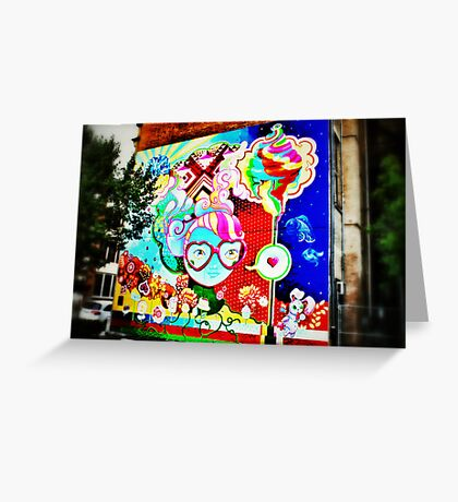 Pop Art Graffiti - Downtown Cincinnati Greeting Card