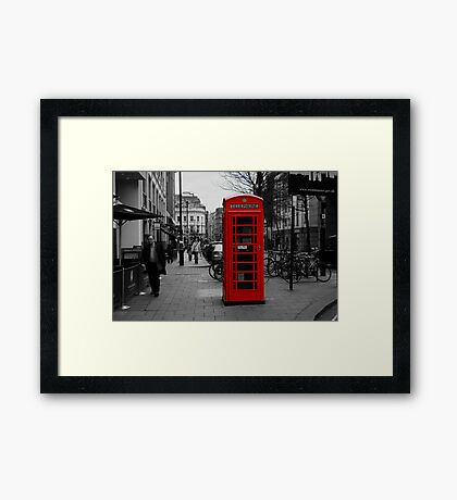 Red London Phone Box Framed Print