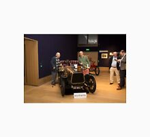 Prospective buyers browse the cars at Bonhams London to Brighton Run sale of Veteran Motor cars  Unisex T-Shirt