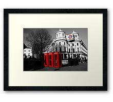 London Phone Boxes Framed Print