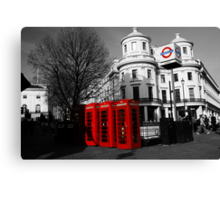 London Phone Boxes Canvas Print
