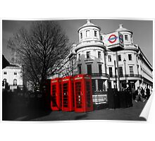 London Phone Boxes Poster