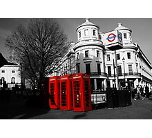 London Phone Boxes Photographic Print