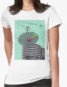 Retro-Futurism Womens Fitted T-Shirt